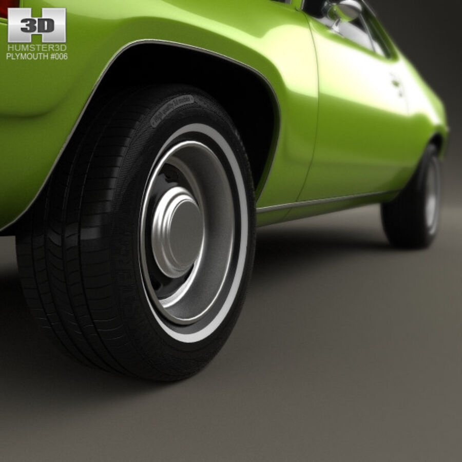 Plymouth Satellite 1971 royalty-free 3d model - Preview no. 8