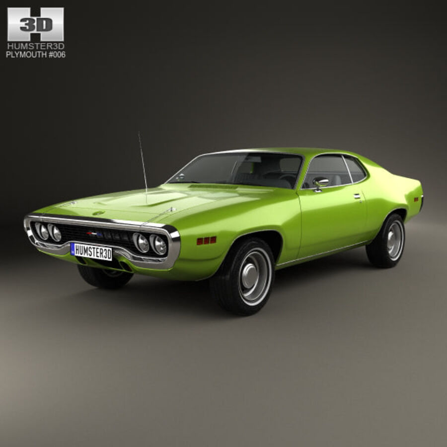 Plymouth Satellite 1971 royalty-free 3d model - Preview no. 1