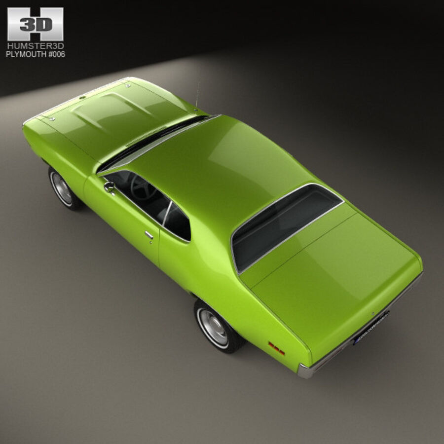 Plymouth Satellite 1971 royalty-free 3d model - Preview no. 9
