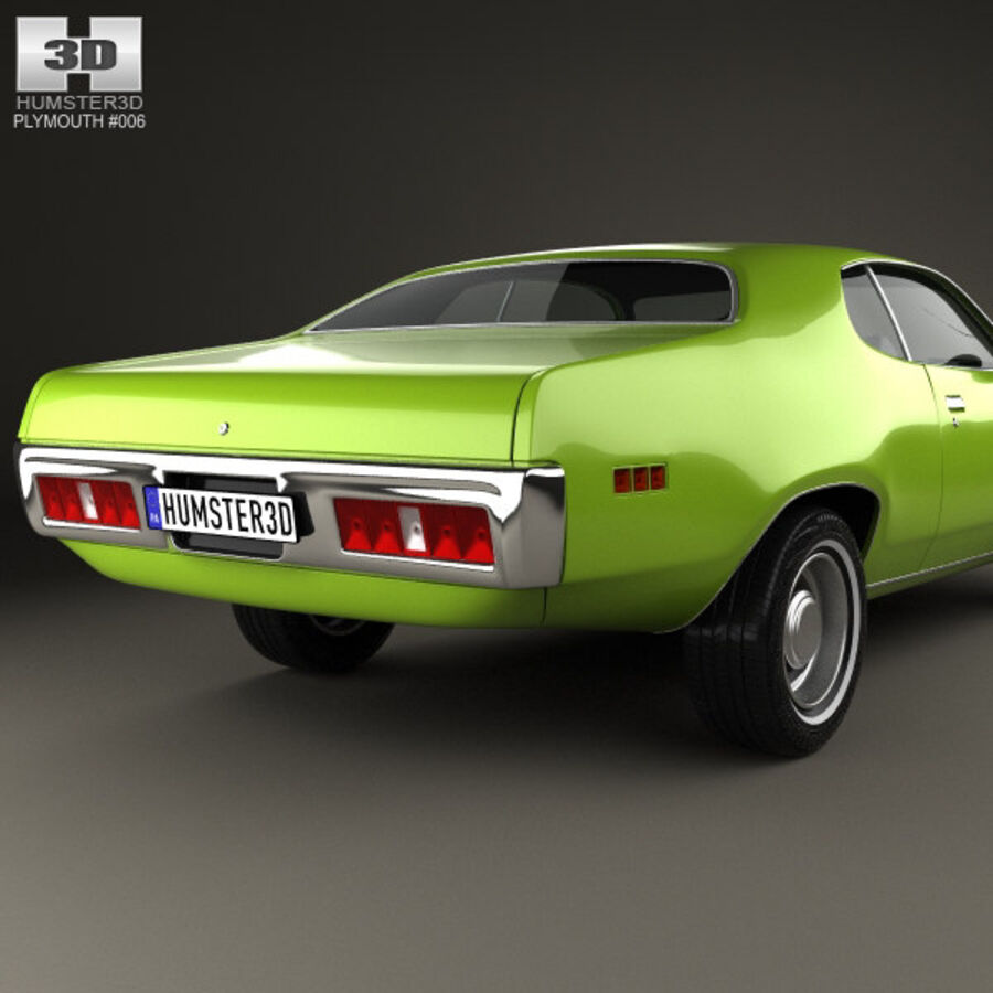 Plymouth Satellite 1971 royalty-free 3d model - Preview no. 7
