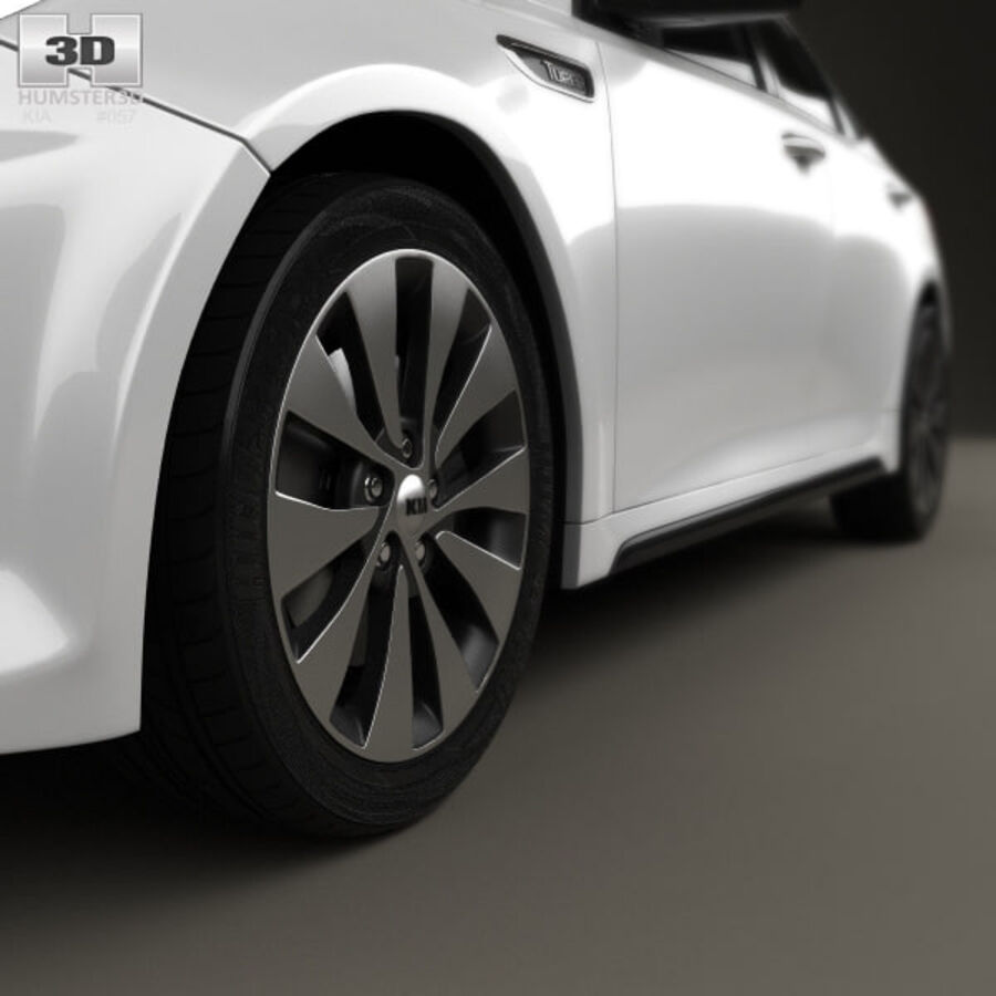 Kia Optima 2016 royalty-free 3d model - Preview no. 8