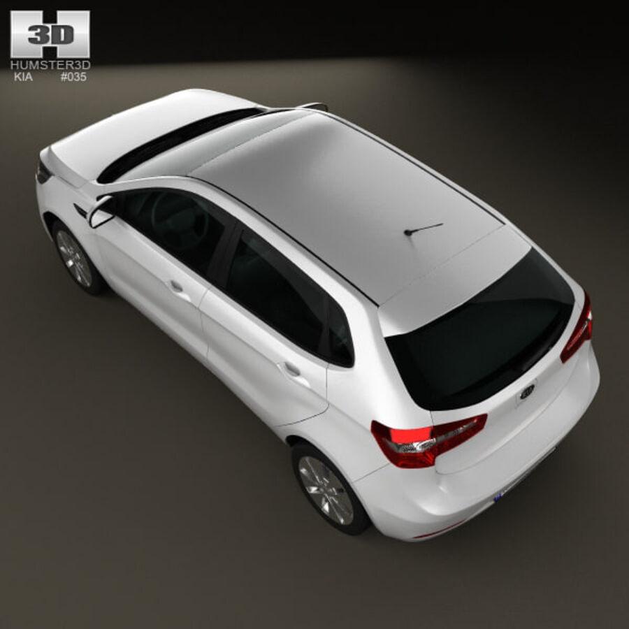 Kia Rio (K2) hatchback 5-drzwiowy 2012 royalty-free 3d model - Preview no. 10
