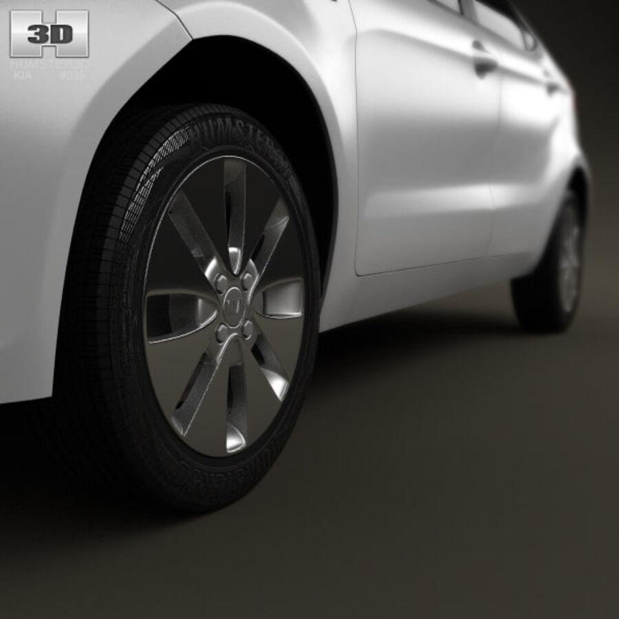 Kia Rio (K2) hatchback 5-drzwiowy 2012 royalty-free 3d model - Preview no. 11