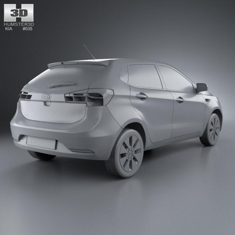 Kia Rio (K2) hatchback 5-drzwiowy 2012 royalty-free 3d model - Preview no. 9