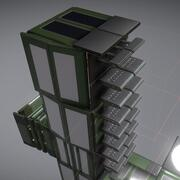 Sci-Fi Ladder Set Green Version 3d model