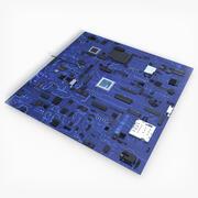 Płytka drukowana 3d model