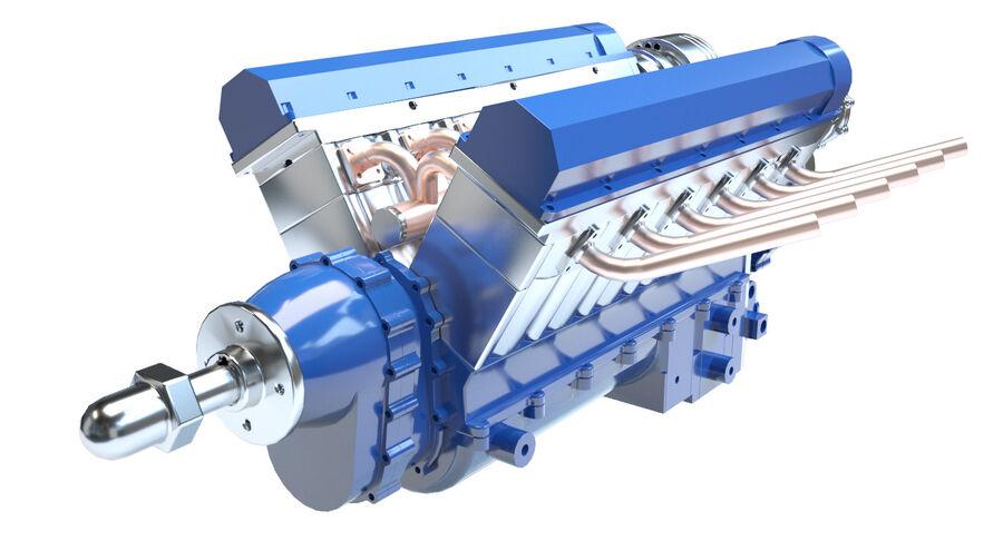 Авиационный двигатель V12 royalty-free 3d model - Preview no. 6