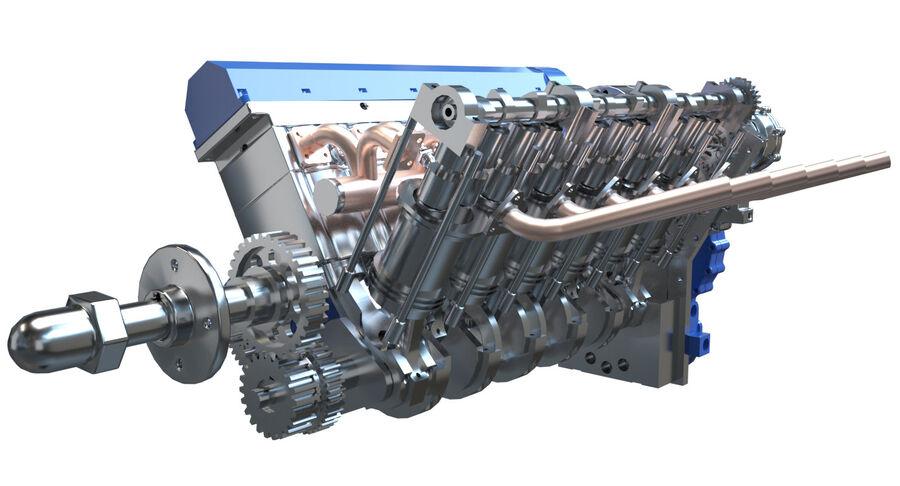 Авиационный двигатель V12 royalty-free 3d model - Preview no. 8
