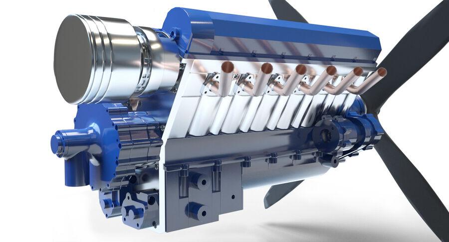 Авиационный двигатель V12 royalty-free 3d model - Preview no. 5