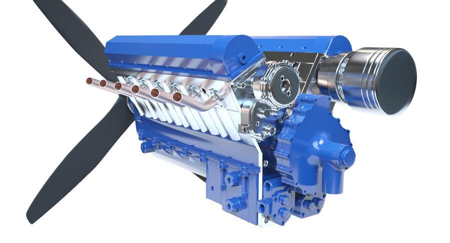 Авиационный двигатель V12 royalty-free 3d model - Preview no. 3