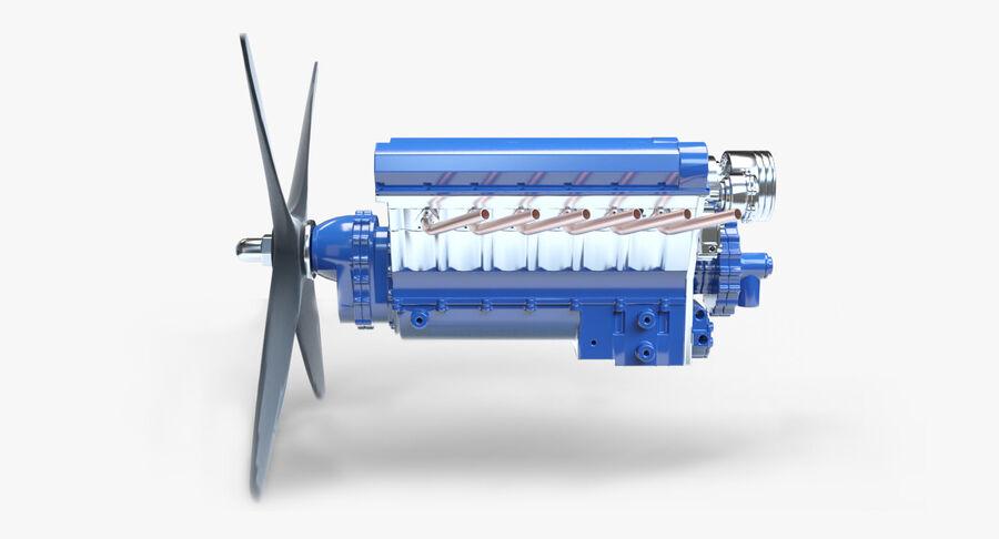 Авиационный двигатель V12 royalty-free 3d model - Preview no. 2