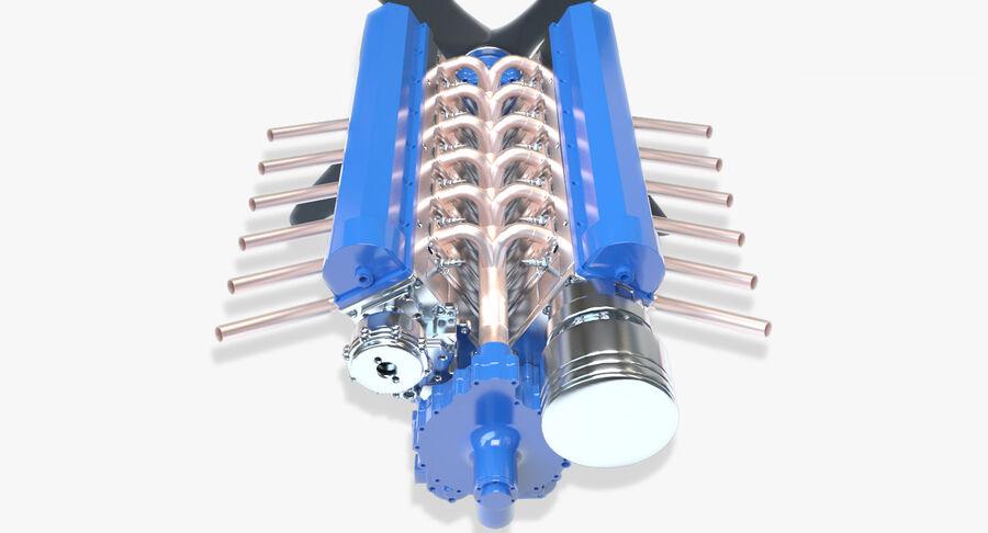 Авиационный двигатель V12 royalty-free 3d model - Preview no. 4