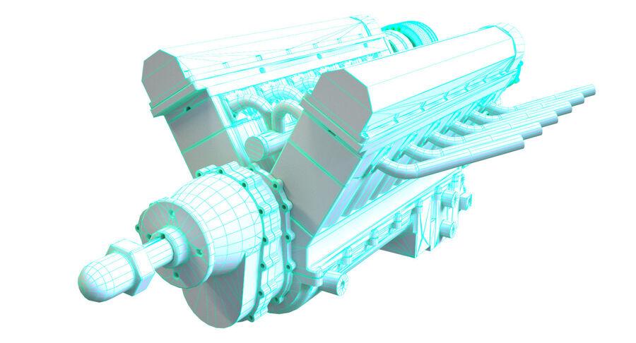 Авиационный двигатель V12 royalty-free 3d model - Preview no. 12
