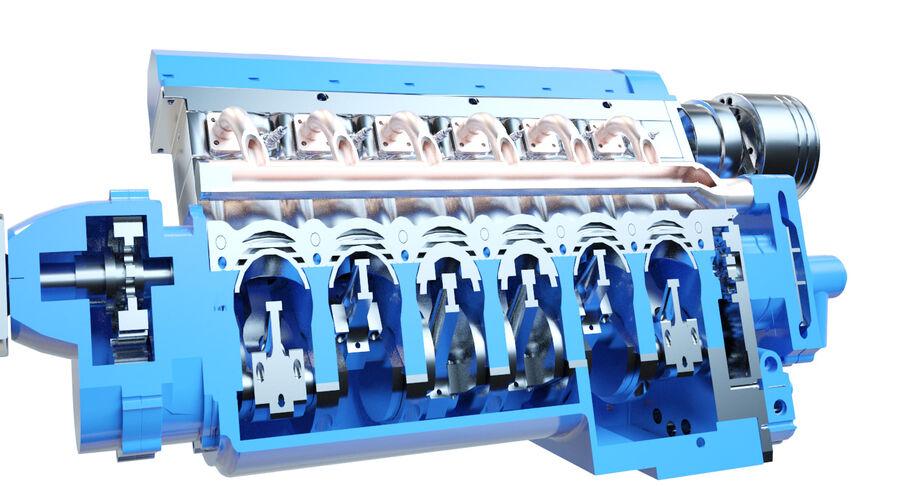 Авиационный двигатель V12 royalty-free 3d model - Preview no. 14