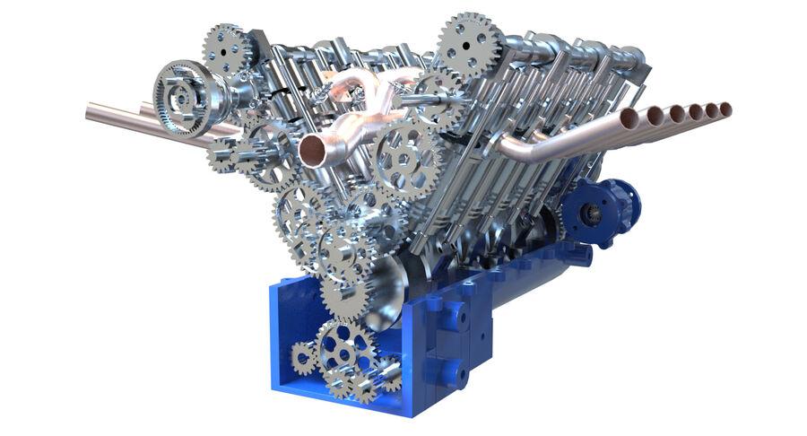Авиационный двигатель V12 royalty-free 3d model - Preview no. 11