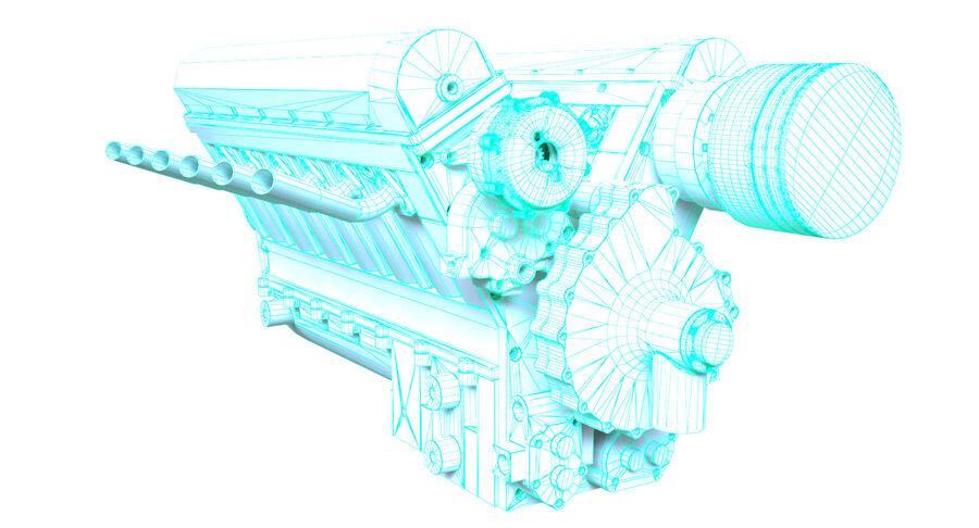 Авиационный двигатель V12 royalty-free 3d model - Preview no. 13