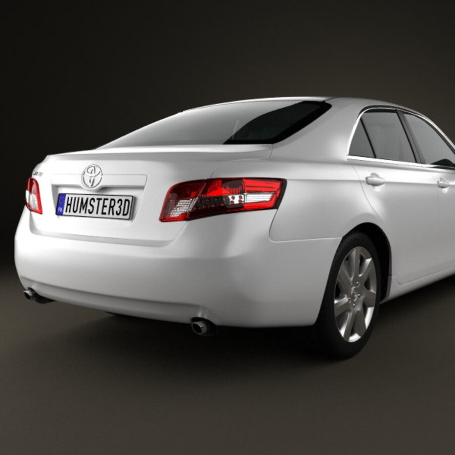 HQ 내부를 가진 Toyota Camry 2010 royalty-free 3d model - Preview no. 7