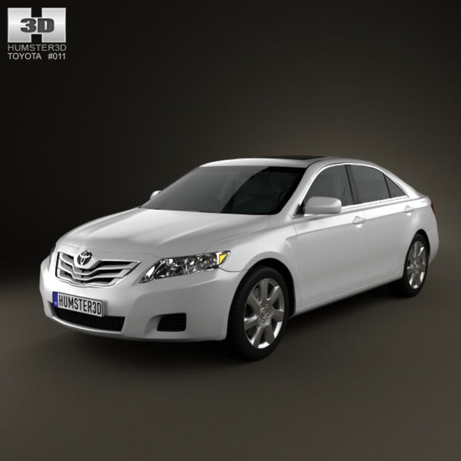 HQ 내부를 가진 Toyota Camry 2010 royalty-free 3d model - Preview no. 1