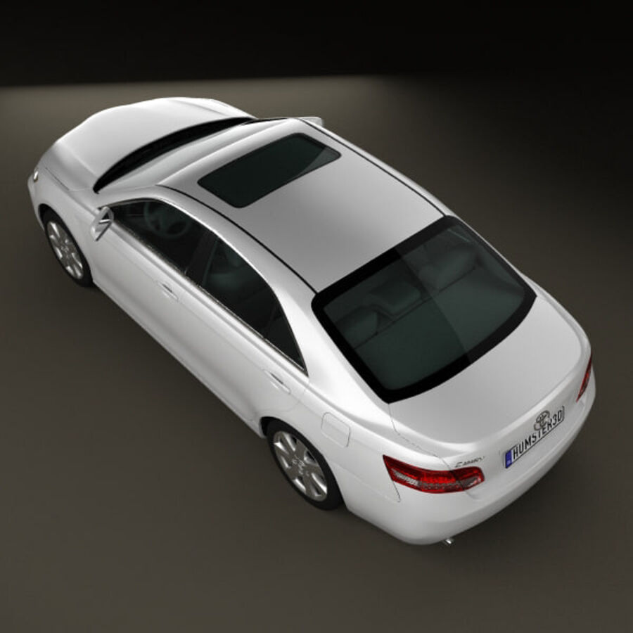 HQ 내부를 가진 Toyota Camry 2010 royalty-free 3d model - Preview no. 10
