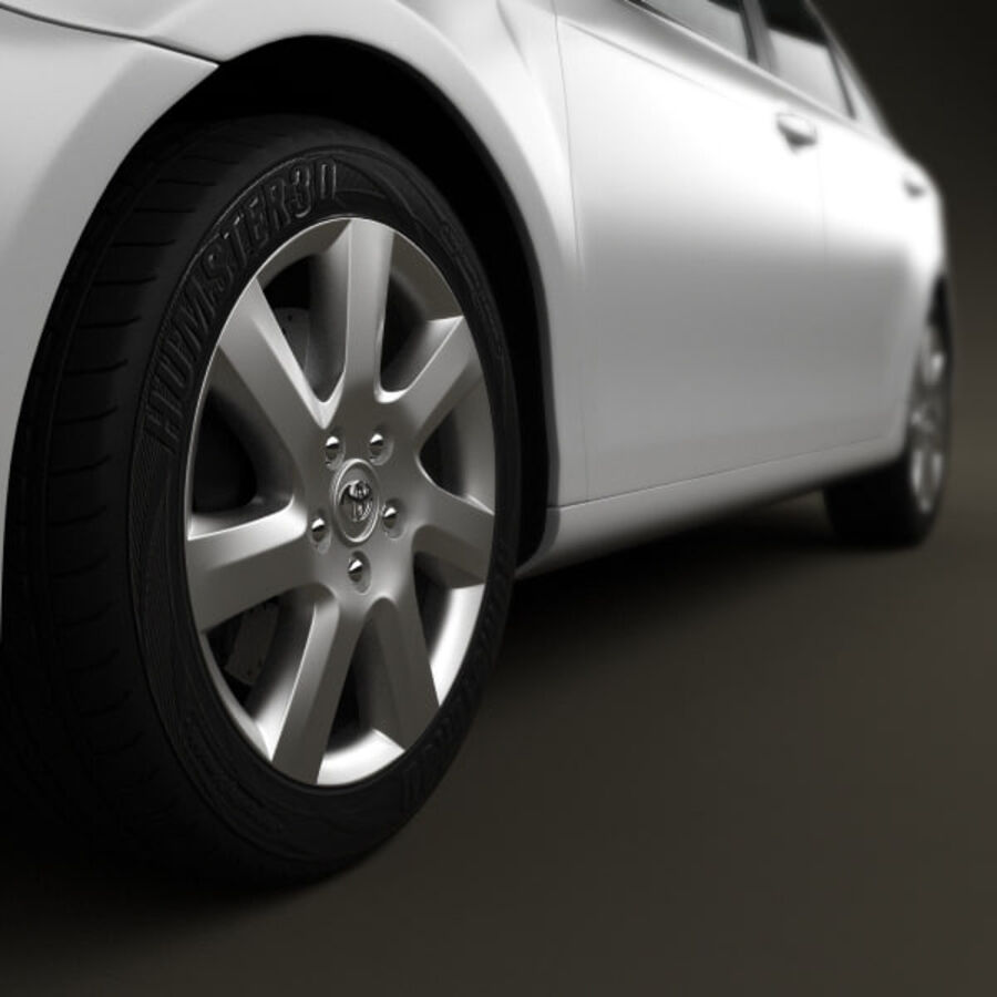 HQ 내부를 가진 Toyota Camry 2010 royalty-free 3d model - Preview no. 11
