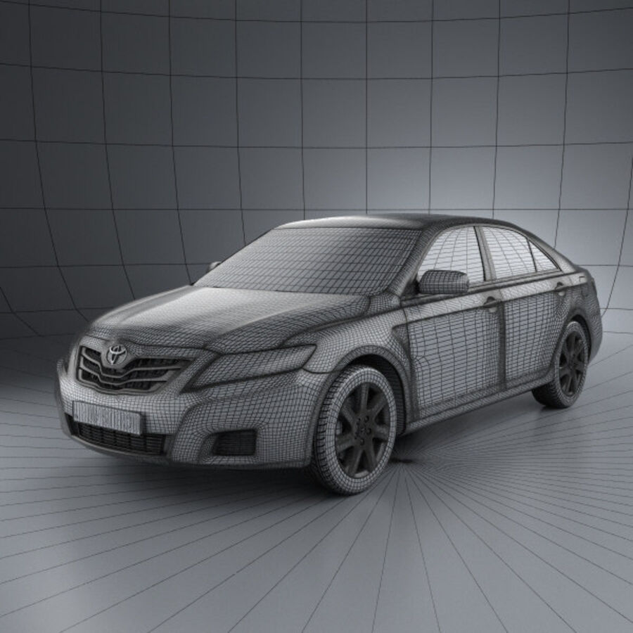 HQ 내부를 가진 Toyota Camry 2010 royalty-free 3d model - Preview no. 3