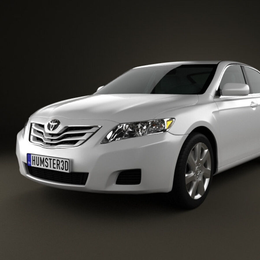 HQ 내부를 가진 Toyota Camry 2010 royalty-free 3d model - Preview no. 6