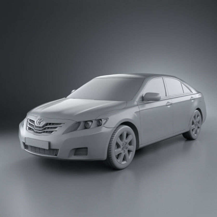 HQ 내부를 가진 Toyota Camry 2010 royalty-free 3d model - Preview no. 8