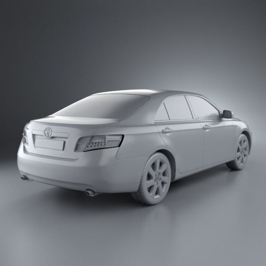 HQ 내부를 가진 Toyota Camry 2010 royalty-free 3d model - Preview no. 9