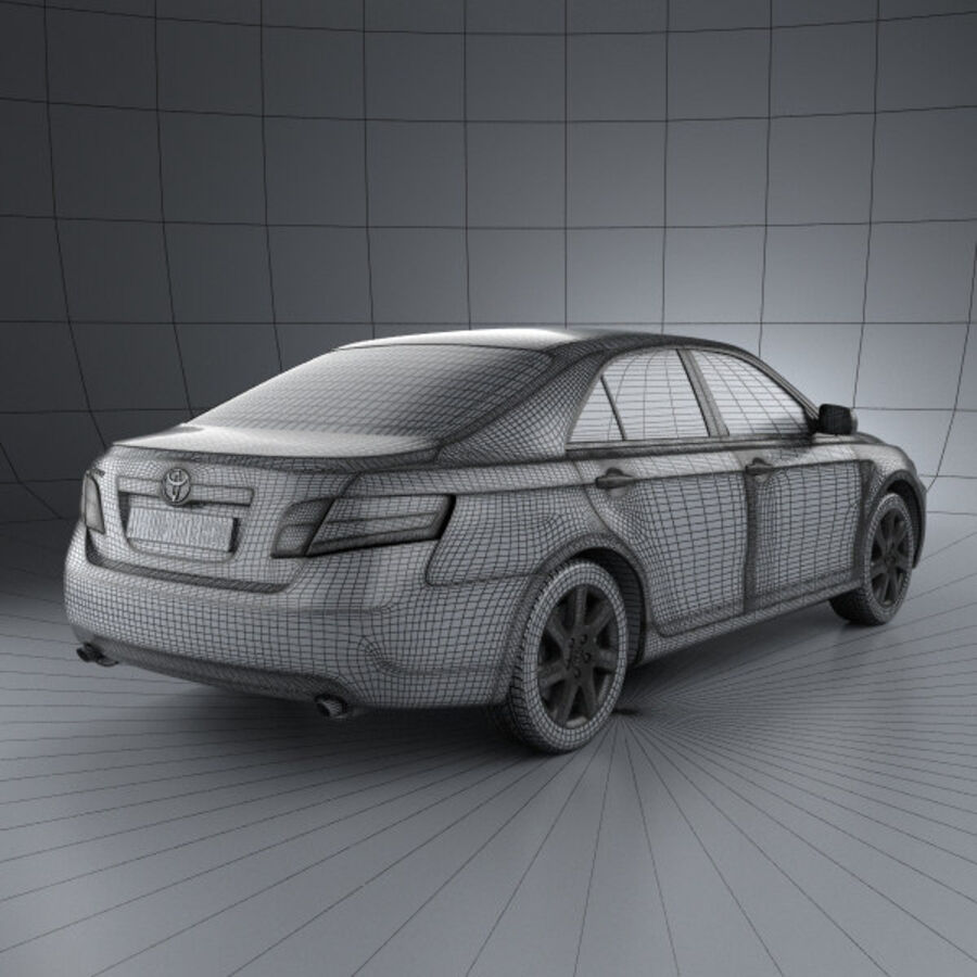 HQ 내부를 가진 Toyota Camry 2010 royalty-free 3d model - Preview no. 4