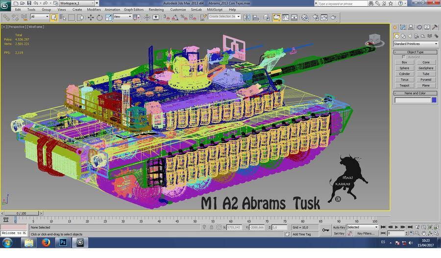 M-1 A2 Abrams Tusk royalty-free 3d model - Preview no. 14
