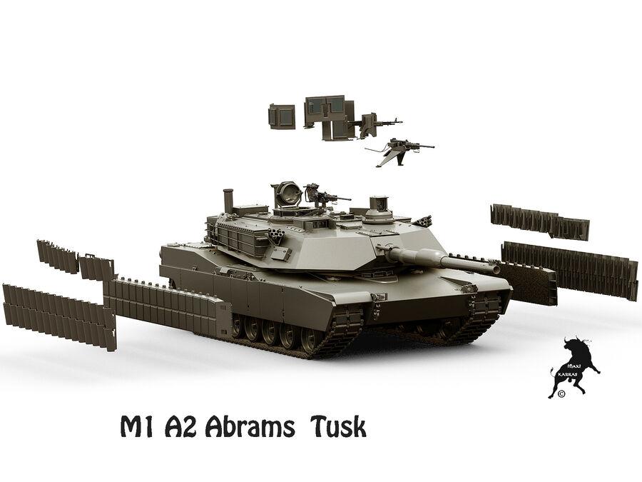M-1 A2 Abrams Tusk royalty-free 3d model - Preview no. 13