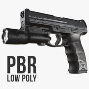 Heckler & Koch VP9 (SFP9) Laag Poly 3d model