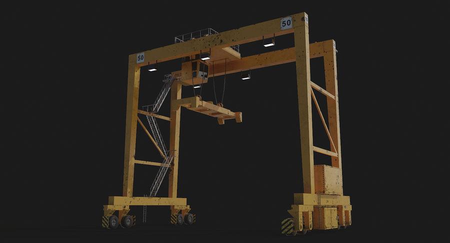 Gantry Crane RTG Low Poly royalty-free 3d model - Preview no. 17