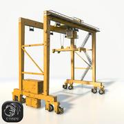 Gantry crane RTG low poly 3d model
