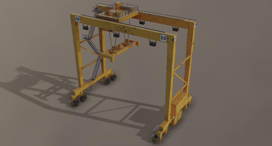 Gantry Crane RTG Low Poly royalty-free 3d model - Preview no. 3
