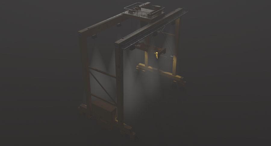Gantry Crane RTG Low Poly royalty-free 3d model - Preview no. 12