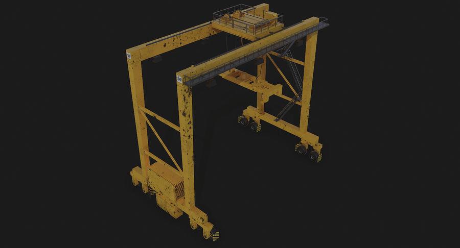 Gantry Crane RTG Low Poly royalty-free 3d model - Preview no. 14