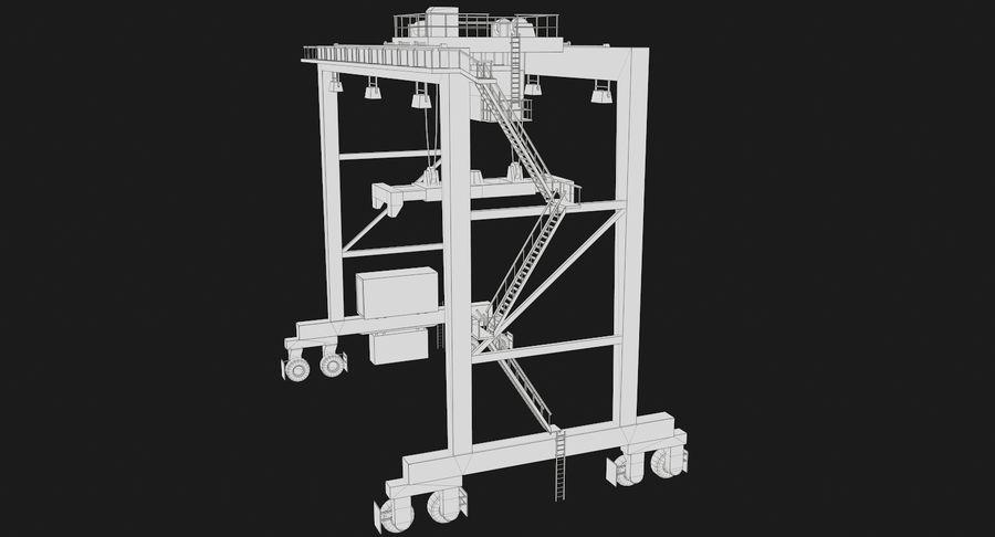 Gantry Crane RTG Low Poly royalty-free 3d model - Preview no. 20