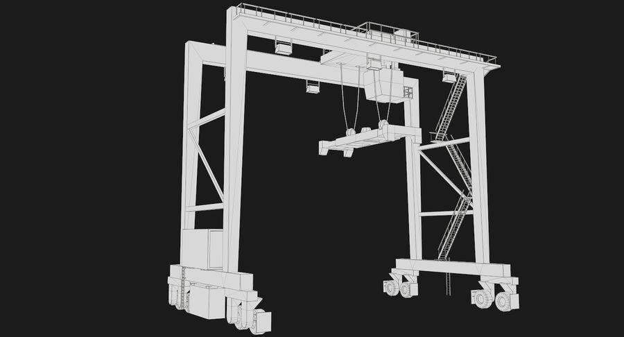 Gantry Crane RTG Low Poly royalty-free 3d model - Preview no. 19