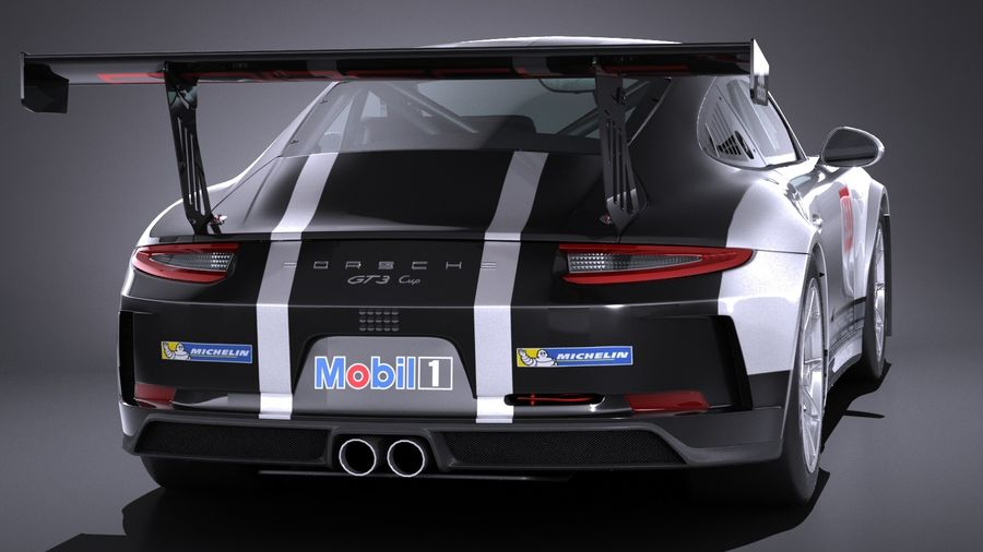 Porsche 911 GT3 Kupası 2017 royalty-free 3d model - Preview no. 5