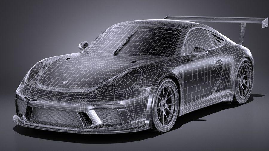 Porsche 911 GT3 Kupası 2017 royalty-free 3d model - Preview no. 15