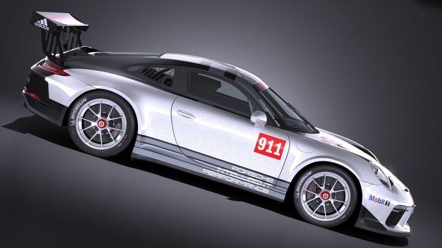 Porsche 911 GT3 Kupası 2017 royalty-free 3d model - Preview no. 7