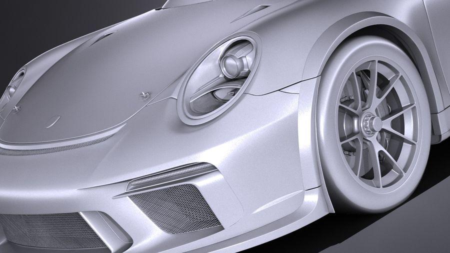 Porsche 911 GT3 Kupası 2017 royalty-free 3d model - Preview no. 10