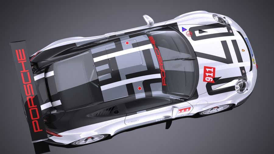 Porsche 911 GT3 Cup 2017 royalty-free 3d model - Preview no. 8