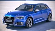 Audi RS3 Sportback 2018 3d model