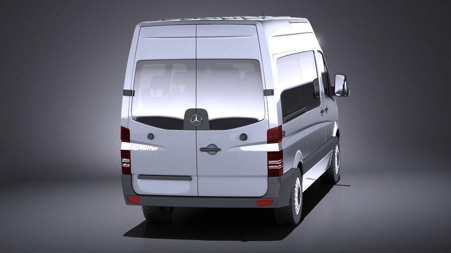 Mercedes-Benz Sprinter Passenger Van 2017 VRAY royalty-free 3d model - Preview no. 5
