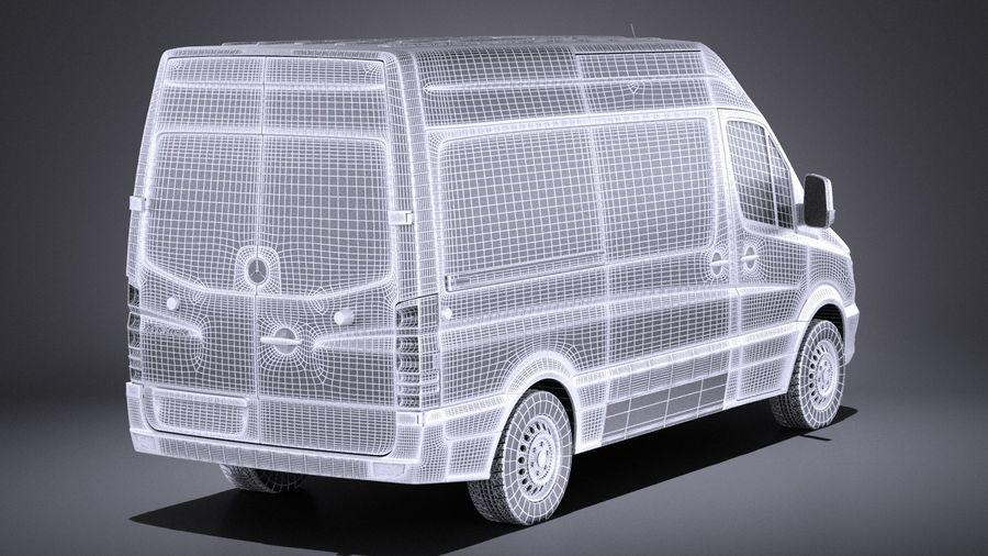 Mercedes-Benz Sprinter Passenger Van 2017 VRAY royalty-free 3d model - Preview no. 14
