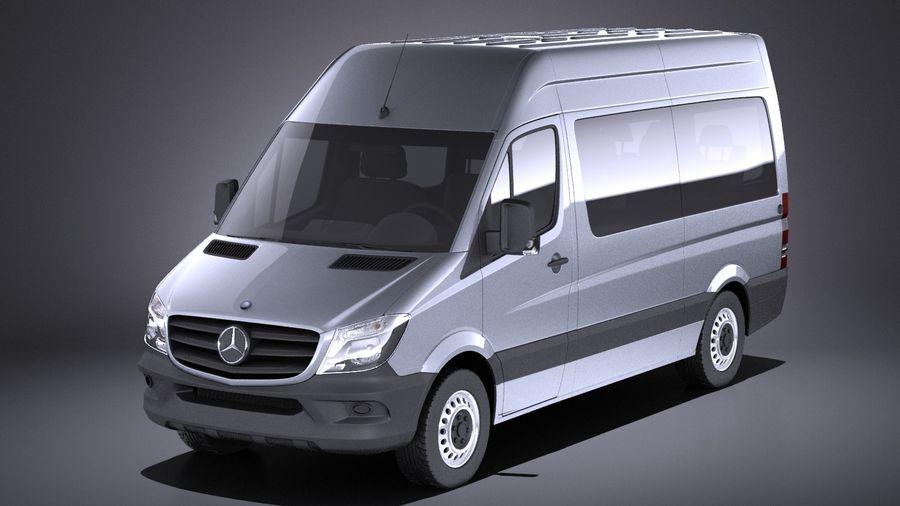 Mercedes-Benz Sprinter Passenger Van 2017 VRAY royalty-free 3d model - Preview no. 1