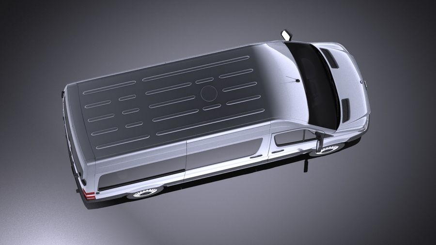 Mercedes-Benz Sprinter Passenger Van 2017 VRAY royalty-free 3d model - Preview no. 8