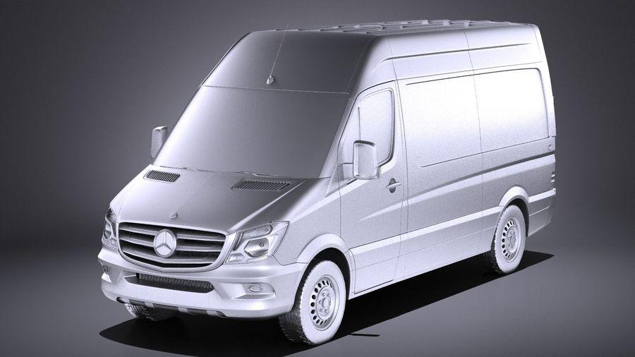 Mercedes-Benz Sprinter Passenger Van 2017 VRAY royalty-free 3d model - Preview no. 9